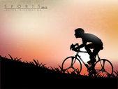 Vector illustration montrant la progression d'olympique triathlo — Vecteur