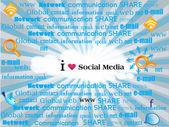 显示连接到社会媒体的各种词语的社会网络主题. — 图库矢量图片