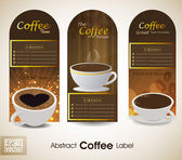 Sets of label design. Menu for restaurant, cafe, bar, coffeehouse. EPS 10. — Stock Vector