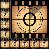 Illustration of film countdown. EPS 10 — Stock Vector