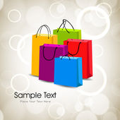 Colorful shopping bags. EPS 10. — 图库矢量图片