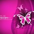 Beautiful pink abstract background with butterfly. EPS 10. — Wektor stockowy #11396614