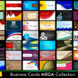 Variety of 42 detailed horizontal Colorful abstract business cards collection on different topics. Vector Illustartion Eps10. — Cтоковый вектор #11396643