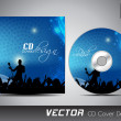 CD cover presentation design template with copy space and music concept, editable EPS10 vector illustration. — Stock Vector #11396652