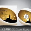 Stock Vector: Islamic CD cover design with Mosque or Masjid. EPS 10. Vector illustration.
