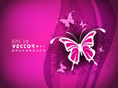 Beautiful pink abstract background with butterfly. EPS 10. — Stock Vector