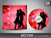 CD cover presentation design template with copy space and love concept, editable EPS10 vector illustration. — Stockvektor