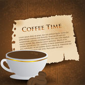 Menu for restaurant, cafe, bar, coffeehouse. Coffee background. EPS 10 — Stock Vector