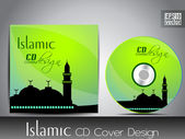 Islamic CD cover design with Mosque or Masjid. EPS 10. Vector illustration. — Stock Vector