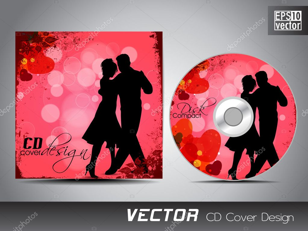 CD cover presentation design template with copy space and ...