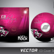 CD cover presentation design template with copy space and music concept, editable EPS10 vector illustration. — Imagen vectorial