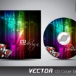 CD cover presentation design template with copy space and music concept, editable EPS10 vector illustration. — Stockvector  #11405214