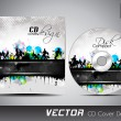 CD cover presentation design template with copy space and music concept, editable EPS10 vector illustration. — Stock Vector