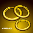 Abstract background with 3D golden circles. EPS 10. — Stock Vector #11405236