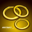 Abstract background with 3D golden circles. EPS 10. — Stock Vector