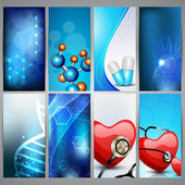 Set of medical banners, vertical arrange. EPS 10. — Stock Vector