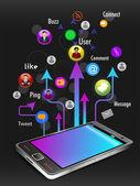 Social media communication. Vector. — Stock Vector