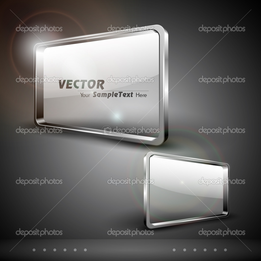 Glass billboard or banners, isolated on grey background. EPS 10.  — Stock Vector #11405171