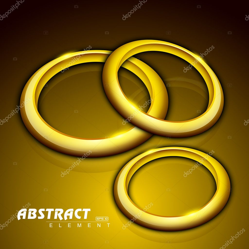 Abstract background with 3D golden circles. EPS 10.   Stock Vector #11405236