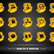Medical icons set isolated on grey background. EPS 10. — Stock Vector #11549877