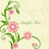 Beautiful floral background with space for your message. EPS 10. — Stock Vector