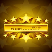 Golden label sign with stars. EPS 10. — Stock Vector