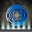 Stylized blue circle,abstract background. EPS 10 — Stock Vector
