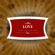 Vintage love background. EPS 10. — Stock Vector #11552273