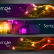 Website banner or header with shiny abstract design. EPS 10. - Stockvectorbeeld