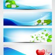 Set of medical banners or website headers. EPS 10. — Vettoriale Stock
