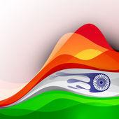 Hindistan bayrağı arka plan dalga paterni ile. eps 10. — Stok Vektör