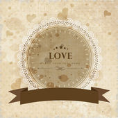 Vintage love background. EPS 10. — Stock Vector