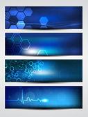 Website banner of header wordt gebruikt met glanzende abstract ontwerp. eps 10. — Stockvector