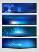Website banner or header with shiny abstract design. EPS 10. — Wektor stockowy