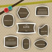 情人节为爱的标记或贴纸。10 eps. — 图库矢量图片