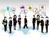 Een groep van communicatie. — Stockvector