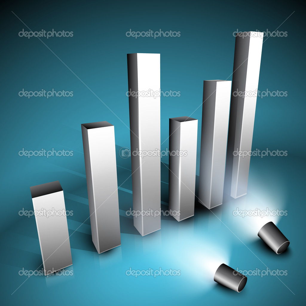 Abstract business graph on shiny background. EPS 10. — Stock Vector #11552159