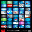 ストックベクタ: Megcollection of 40 abstract medical business cards or visitin