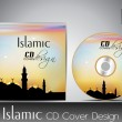 Islamic CD cover design with Mosque or Masjid. EPS 10. Vector il — Stock Vector
