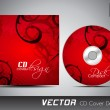 CD cover design template with copy space. EPS 10. — Vettoriale Stock