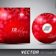 CD cover design template with copy space. EPS 10. - Image vectorielle