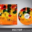 CD cover design template with copy space. EPS 10. — Vector de stock