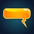 Glossy speech bubble background. EPS 10. — Imagens vectoriais em stock