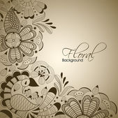 Abstract floral background. EPS 10. — Stock Vector