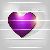Abstract Shiny heart in purple color. EPS 10. — Stock Vector