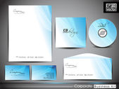 Professional corporate identity kit or business kit with artisti — Vetorial Stock