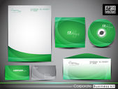 Professional corporate identity kit or business kit with artisti — Stockvektor