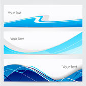 Website banner or header set. EPS 10. — Stockvector