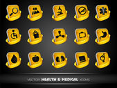 Medical icons set isolated on grey background. EPS 10. — Stock Vector