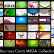 Vecteur: Elegant Abstract Vector Business Cards, Mixed Bag set in various